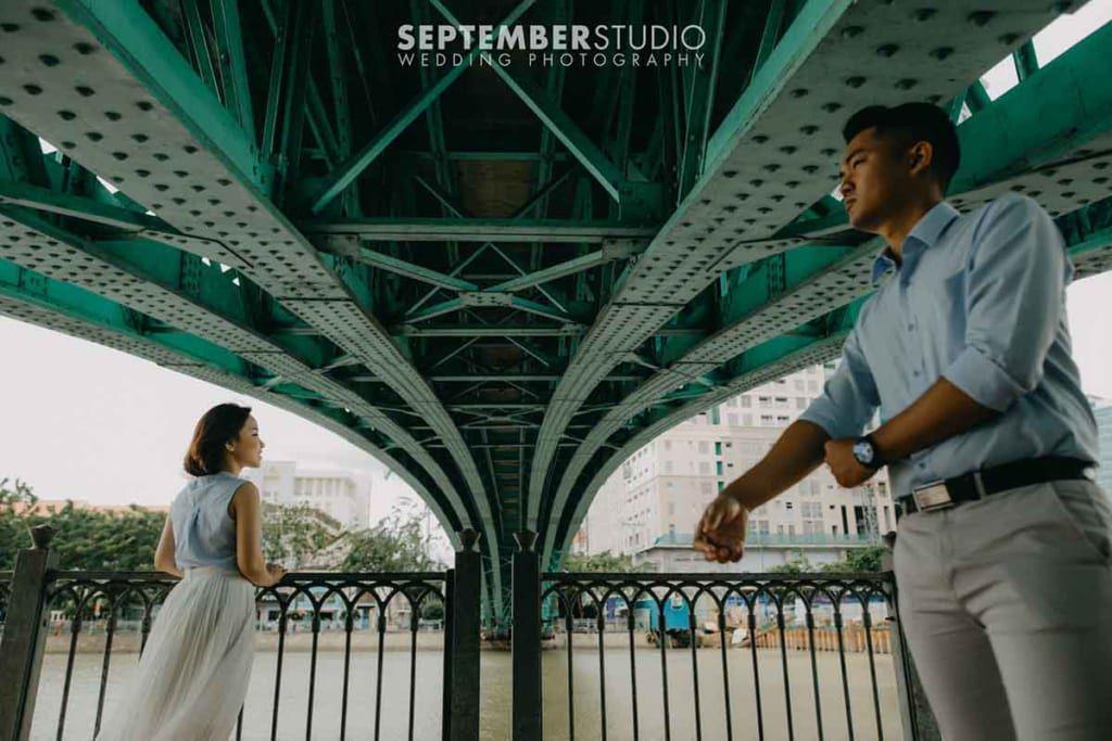 Chụp hình cưới ở Cầu Mống
