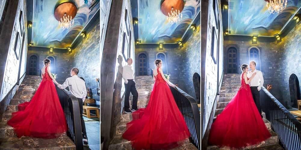 chụp ảnh cưới ở lâu đài quận 9