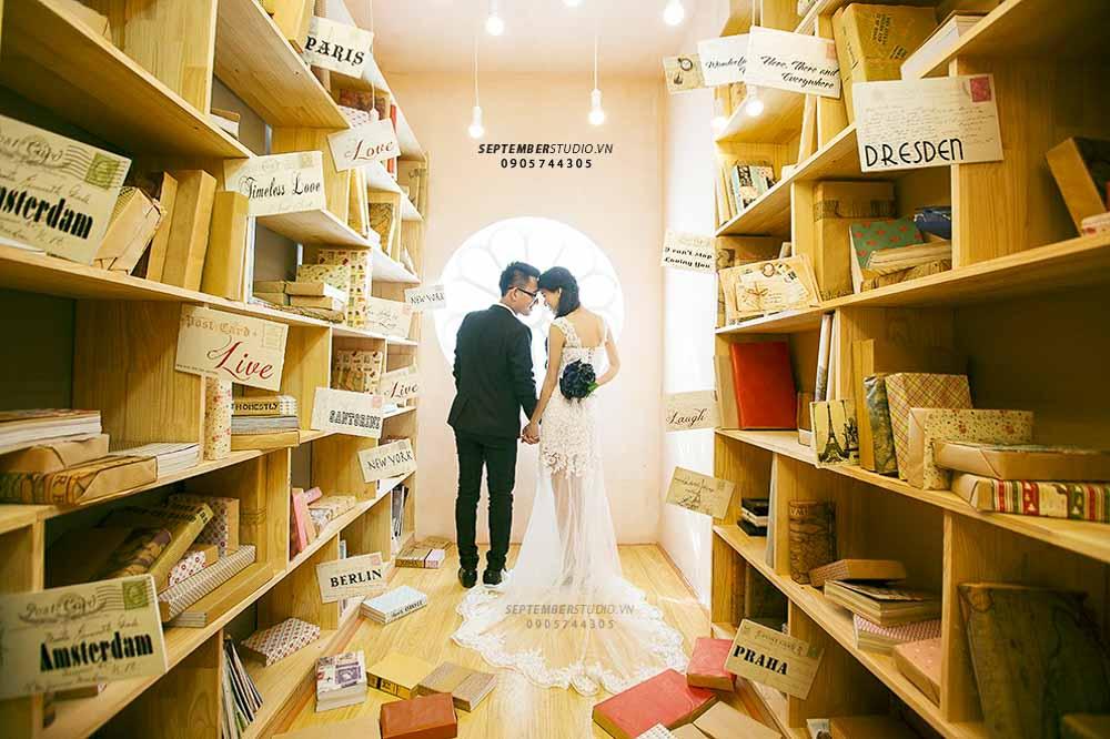 Chụp ảnh cưới tại phim trường White House