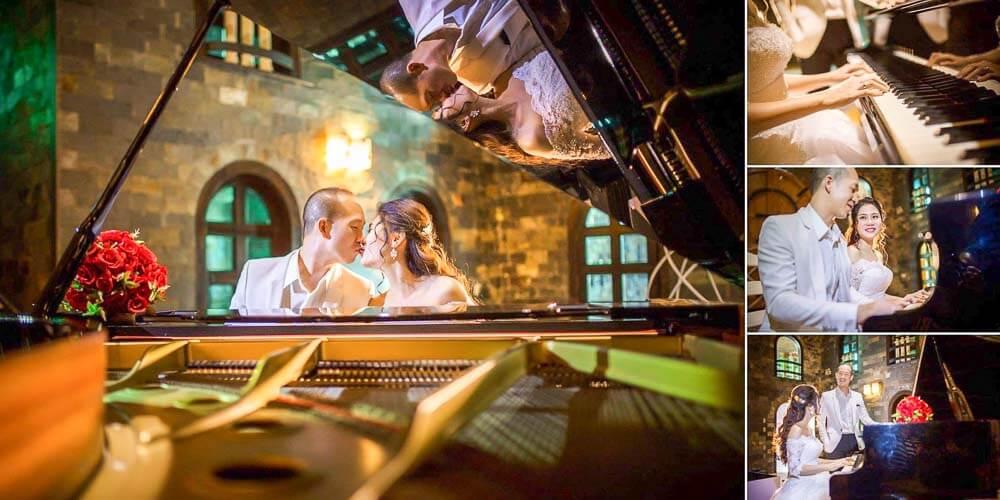 Chụp hình cưới tại lâu đài quận 9