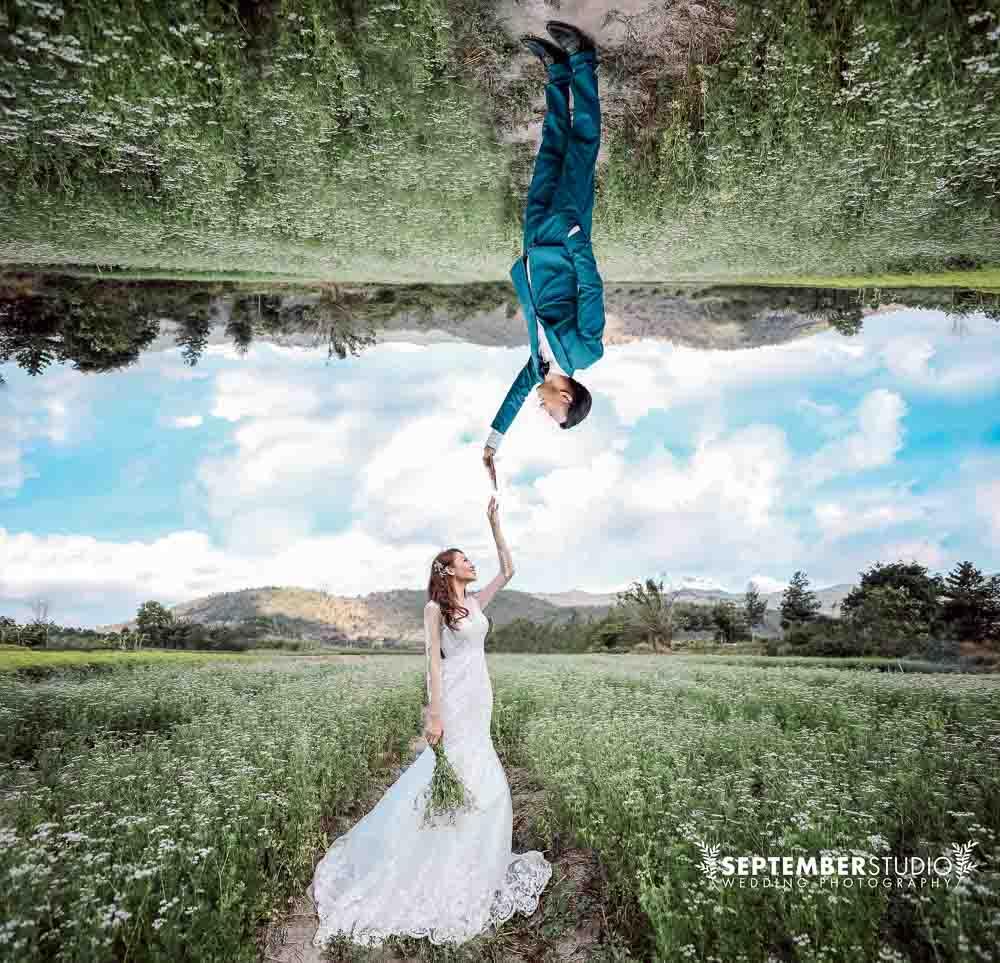 Chụp hình cưới đẹp mê li trên con đường cát trắng ra Phan Thiết