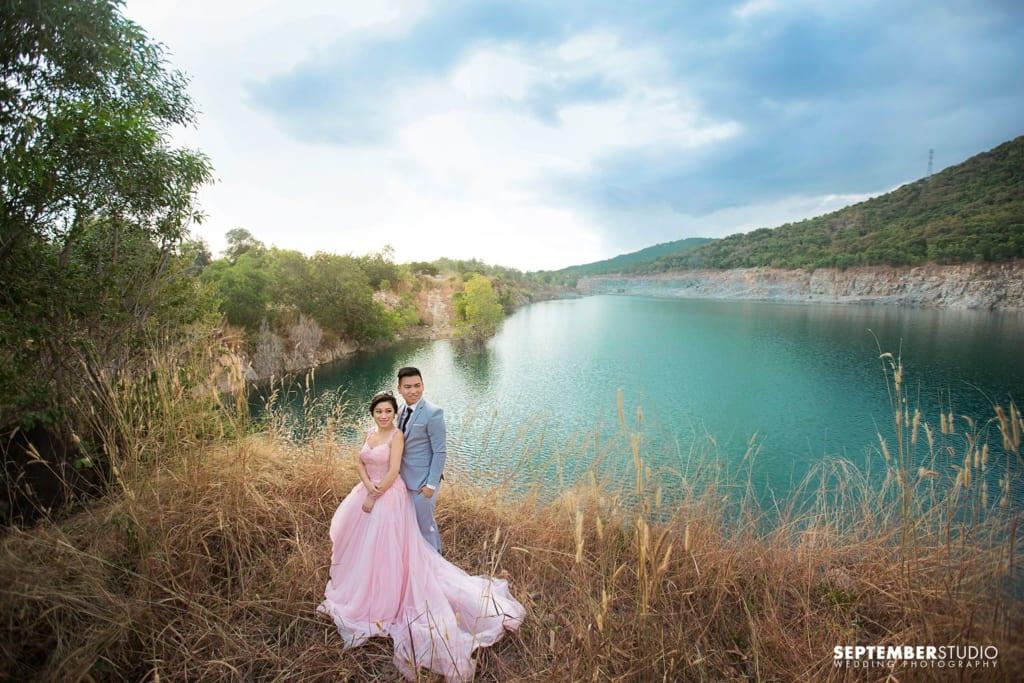 Chụp hình cưới tại Hồ Cốc cũng phải để ý thời điểm.