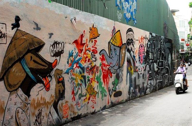 Hẻm Graffiti đem đến vẻ đẹp đầy khác biệt.
