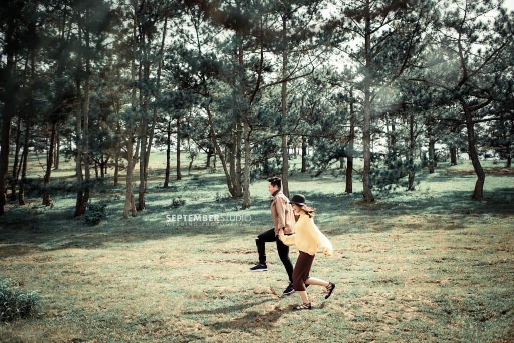 Nên đến Đà Lạt chụp ảnh cưới vào mùa khô.