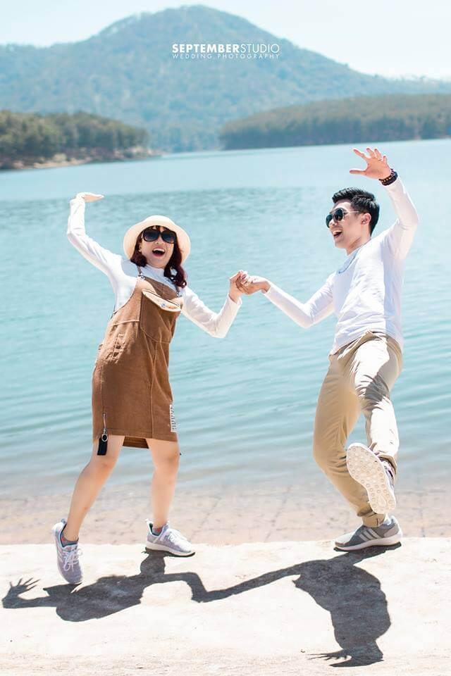 Ảnh cưới chụp theo phong cách Hàn Quốc vui nhộn