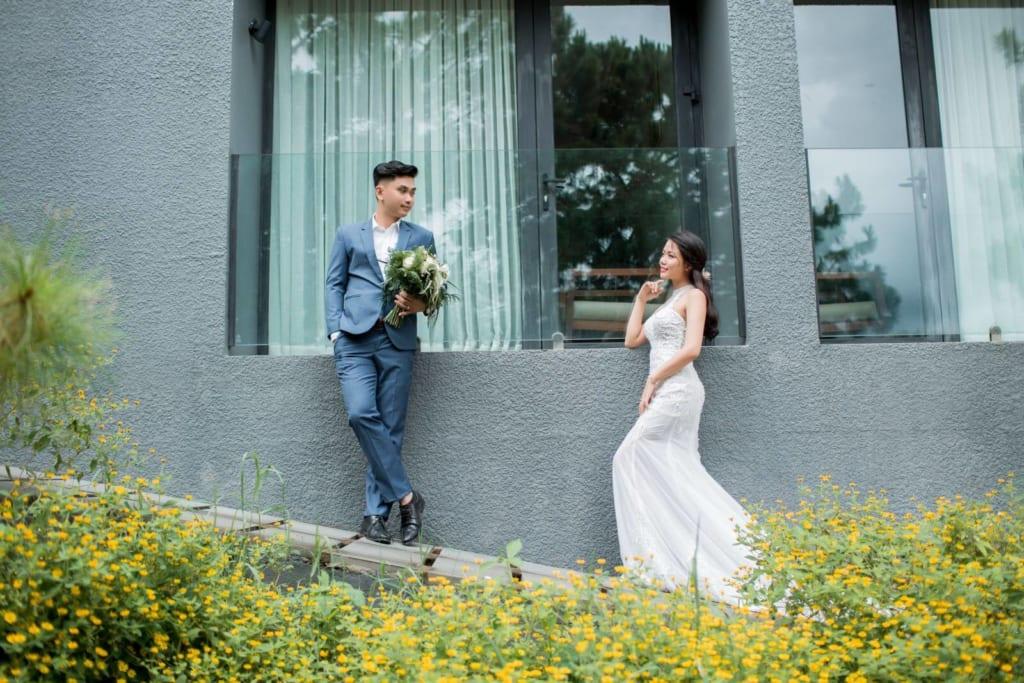 Phong cách chụp ảnh cưới Hàn Quốc đang gây sốt thời gian gần đây.