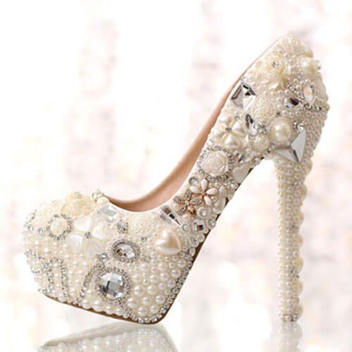 Giày nữ cưới quyến rũ