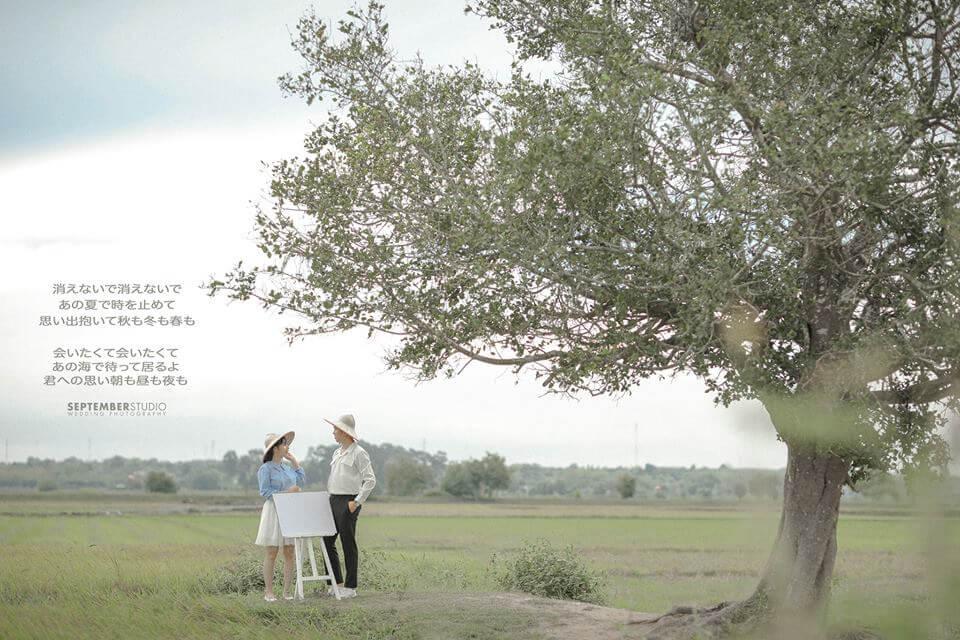 Kiểu chụp ảnh cưới ngoại cảnh
