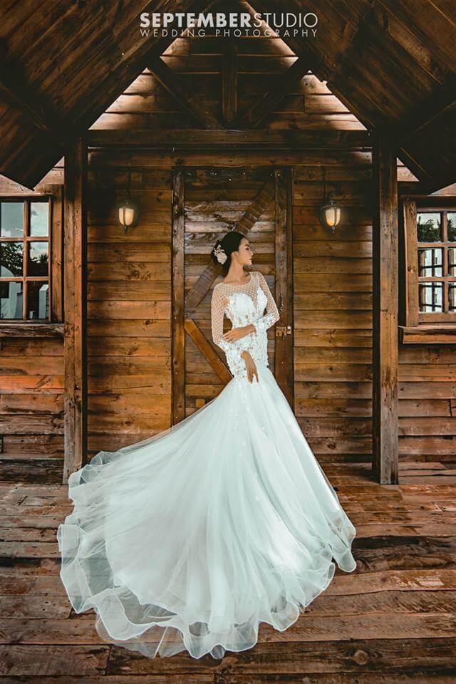 Váy trắng đẹp chụp ảnh cưới