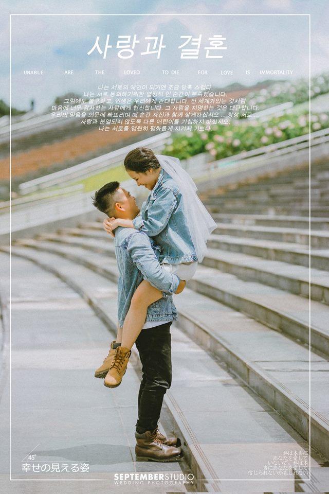 Cô dâu tiến bước để gần hơn với tình yêu của đời mình.