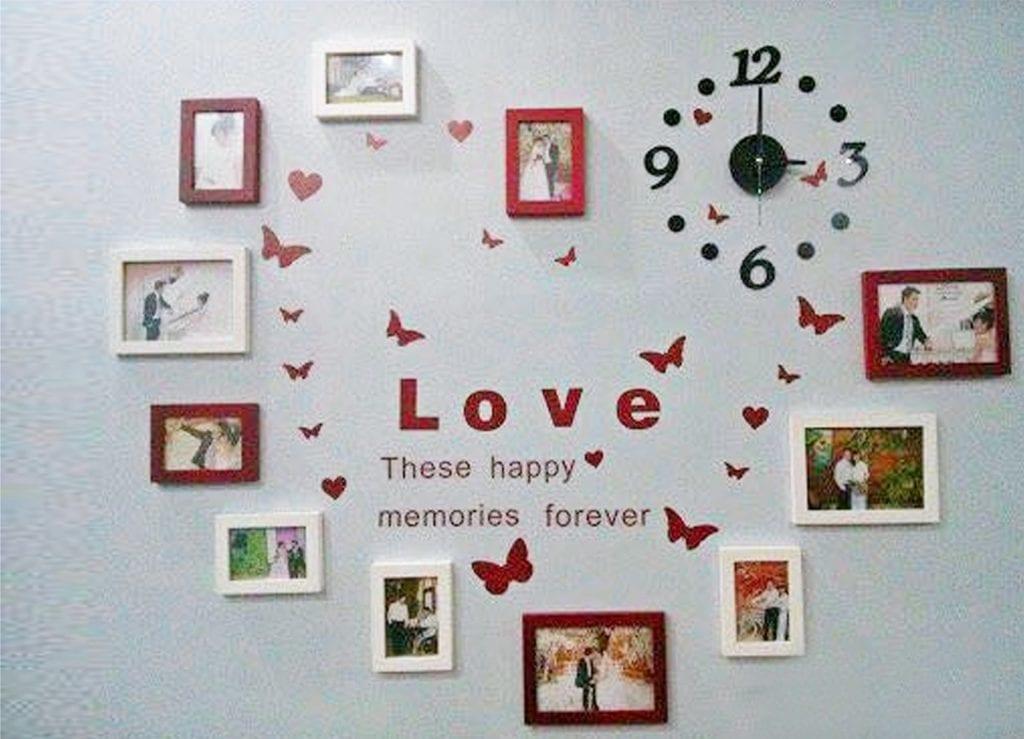Trang trí phòng cưới bằng giấy decan dán tường
