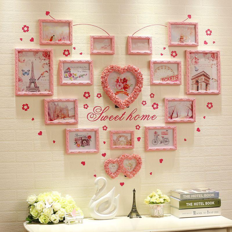 Trang trí phòng cưới bằng khung ảnh