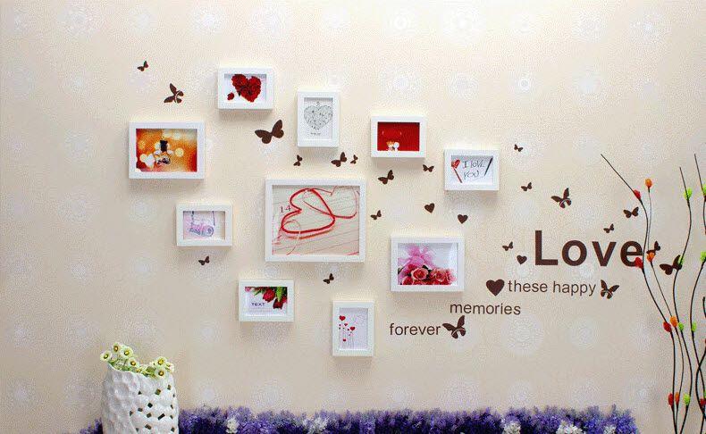 Trang trí phòng cưới bằng khung ảnh đẹp nhất