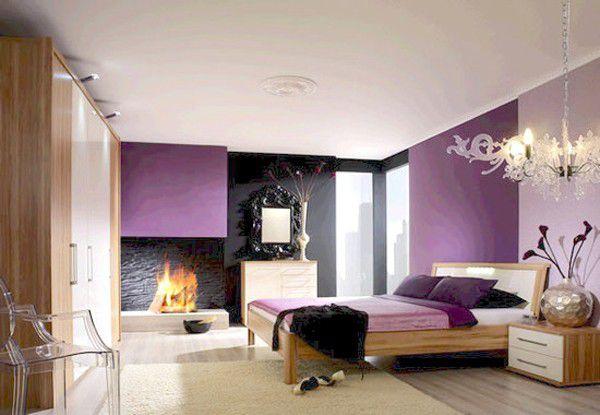 Trang trí phòng cưới màu tím đẹp