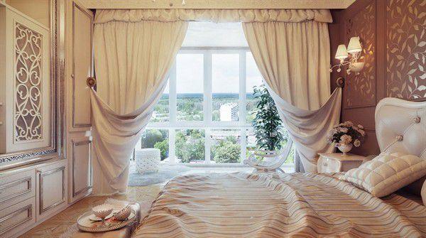 Trang trí phòng cưới bằng rèm