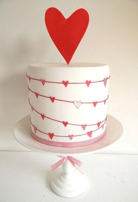 bánh cưới 1 tầng dễ thương