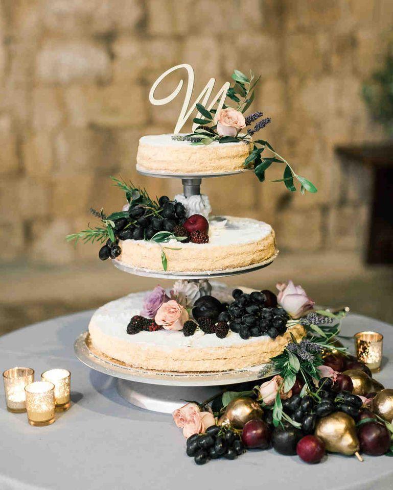 bánh cưới 3 tầng rời