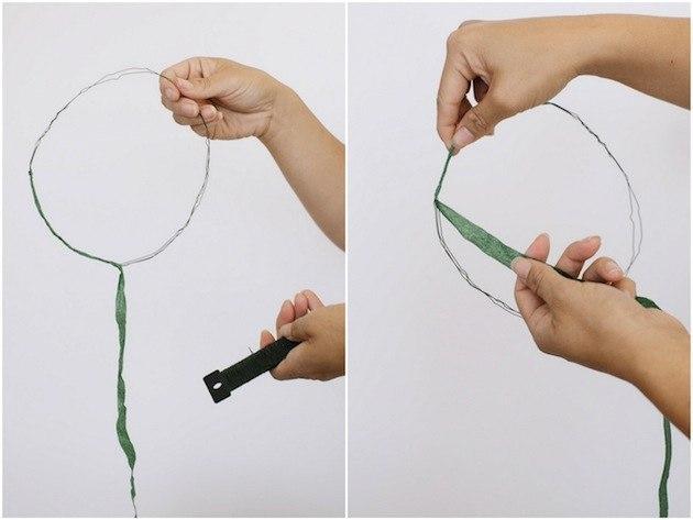 Cách làm vòng hoa đội đầu đơn giản