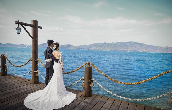 ảnh cưới đẹp biển nhân tạo Cần Thơ