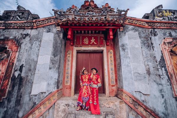 Chụp ảnh cưới đẹp ở Chùa Ông Cần Thơ