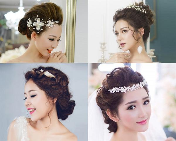 Tóc cô dâu mặt tròn