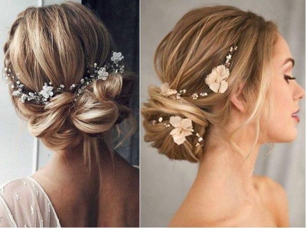 Mẫu tóc cô dâu búi thấp